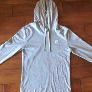 Nike Heather Grey Pullover Hoodie